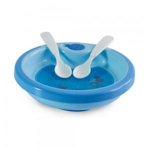 Imagem do produto - Prato Térmico com Ventosa e 2 Colheres | Mickey Baby