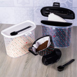 Imagem do produto - Pote para Café com Colher e Porta Filtro