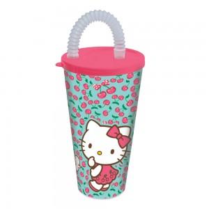 Imagem do produto - Copo com Canudo 430 ml | Hello Kitty