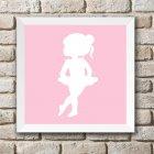 Imagem - Quadro-de-parede-quarto-bebê-baby-chocolate - Bailarina Rosa