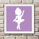 Imagem - Quadro-de-parede-quarto-bebê-baby-chocolate - Bailarina Lilás