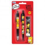 Blister Simpsons com 1 Caneta, 1 Lapiseira e 1 Caixa de Grafites