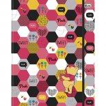Caderno Argolado Universitário Pooh Cartonado com Elástico