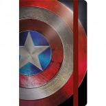 Caderneta Capa Dura Costurada Fitto Avengers Capitão América Civil War - 80 Folhas