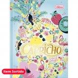 Caderneta Costurada Capa Dura Capricho - 96 Folhas
