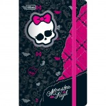 Caderneta Capa Dura Costurada Fitto Monster High - 80 Folhas