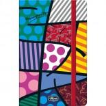 Caderneta Capa Dura Costurada Fitto Romero Britto- 80 Folhas