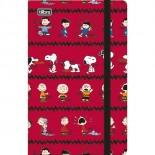 Caderneta Capa Dura Costurada Fitto Snoopy - 80 Folhas