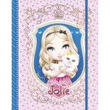 Caderno Argolado Universitário Cartonado com Elástico Jolie - 80 Folhas