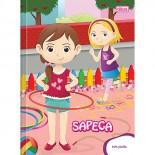 Caderno Brochura Capa Dura 1/4 sem Pauta Sapeca - 96 Folhas (Pacote com 10 unidades)