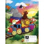Caderno Brochura Capa Dura Quadriculado 1x1cm Académie Kids - 40 Folhas