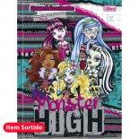 Caderno Brochura Capa Dura Quadriculado 1x1cm Monster High - 40 Folhas (Pacote com 10 unidades)