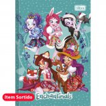 Caderno Brochura Capa Dura Top 1/4 Enchantimals - 80 Folhas (Pacote com 5 unidades)