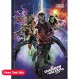 Caderno Brochura Capa Dura Top 1/4 Guardiões da Galáxia - 80 Folhas (Pacote com 5 unidades)