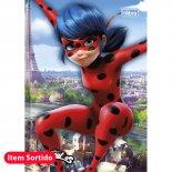 Caderno Brochura Capa Dura Top 1/4 Miraculous: Ladybug - 48 Folhas (Pacote com 15 unidades)
