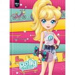 Caderno Brochura Capa Dura Top Universitário Polly Pocket - 96 Folhas (Pacote com 5 unidades)