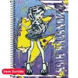 Caderno Capa Dura 1/4 Monster High - 96 Folhas (Pacote com 5 unidades)