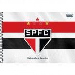 Caderno Capa Dura Cartografia e Desenho São Paulo - 96 Folhas (Pacote com 4 unidades)