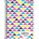 Caderno 1/4 Espiral Neon Kori 96fls