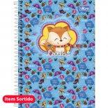 Caderno Espiral Capa Dura 1/4 Bichinhos - 96 Folhas (Pacote com 4 unidades)
