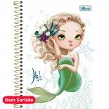 Caderno Espiral Capa Dura 1/4 Hi! Girls - 96 Folhas (Pacote com 4 unidades)