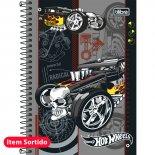 Caderno Espiral Capa Dura 1/4 Hot Wheels - 96 Folhas (Pacote com 5 unidades)