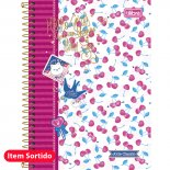 Caderno Espiral Capa Dura 1/4 Jolie Classic - 96 Folhas (Pacote com 5 unidades)