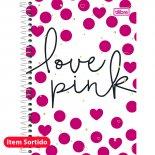 Caderno Espiral Capa Dura 1/4 Love Pink - 96 Folhas