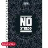 Caderno Espiral Capa Dura 1/4 No Stress - 96 Folhas (Pacote com 5 unidades)