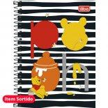 Caderno Espiral Capa Dura 1/4 Pooh - 96 Folhas (Pacote com 5 unidades)