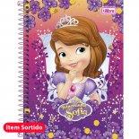 Caderno Espiral Capa Dura 1/4 Princesinha Sofia - 96 Folhas (Pacote com 5 unidades)