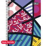 Caderno Espiral Capa Dura 1/4 Romero Britto - 96 Folhas (Pacote com 5 unidades)