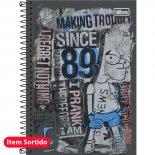 Caderno Espiral Capa Dura 1/4 Simpsons - 96 Folhas (Pacote com 5 unidades)