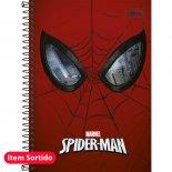 Caderno Espiral Capa Dura 1/4 Spider-Man - 96 Folhas (Pacote com 5 unidades)
