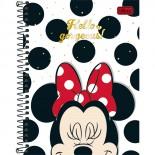 Caderno Espiral Capa Dura Colegial 8 Matérias Minnie - 160 Folhas