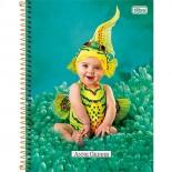 Caderno Espiral Capa Dura Universitário 1 Matéria Anne Geddes - 96 Folhas (Pacote com 4 unidades)