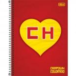 Caderno Espiral Capa Dura Universitário 1 Matéria Chapolin - 96 Folhas (Pacote com 4 unidades)