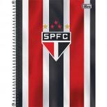 Caderno Espiral Capa Dura Universitário 1 Matéria Clube de Futebol São Paulo - 96 Folhas (Pacote com 4 unidades)