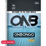 Caderno Espiral Capa Dura Universitário 1 Matéria Onbongo - 96 Folhas - Sortido (Pacote com 4 unidades)