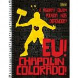 Caderno Espiral Capa Dura Universitário 10 Matérias Chapolin - 200 Folhas (Pacote com 4 unidades)