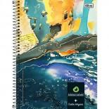 Caderno Espiral Capa Dura Universitário 10 Matérias Instituto Rodrigo Mendes - 200 Folhas (Pacote com 4 unidades)