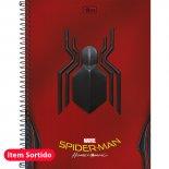 Caderno Espiral Capa Dura Universitário 10 Matérias Spider-Man Homecoming - 160 Folhas (Pacote com 4 unidades)