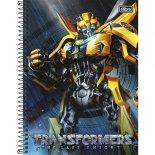 Caderno Espiral Capa Dura Universitário 10 Matérias Transformers - 200 Folhas (Pacote com 4 unidades)