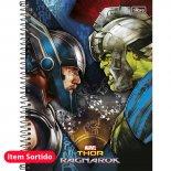 Caderno Espiral Capa Dura Universitário 12 Matérias Thor - 192 Folhas (Pacote com 4 unidades)