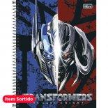 Caderno Espiral Capa Dura Universitário 12 Matérias Transformers - 240 Folhas (Pacote com 4 unidades)