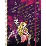 Caderno Espiral Capa Dura Universitário 5 Matérias Ever After High Top Digi - 160 Folhas