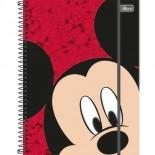 Caderno Espiral Capa Dura Universitário 5 Matérias Mickey Top Digi - 160 Folhas