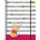 Caderno Espiral Capa Dura Universitário 5 Matérias Pooh Top Digi - 160 Folhas