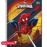 Caderno Espiral Capa Dura Universitário Quadriculado 1x1cm Spider-Man - 96 Folhas (Pacote com 4 unidades)