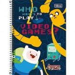 Caderno Capa Dura 1/4 Adventure Time - 96 Folhas (Pacote com 5 unidades)